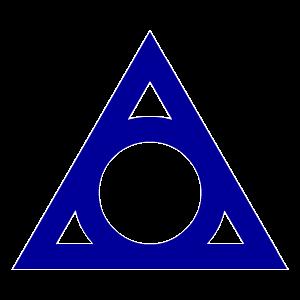 Symbol of circle inside a triangle
