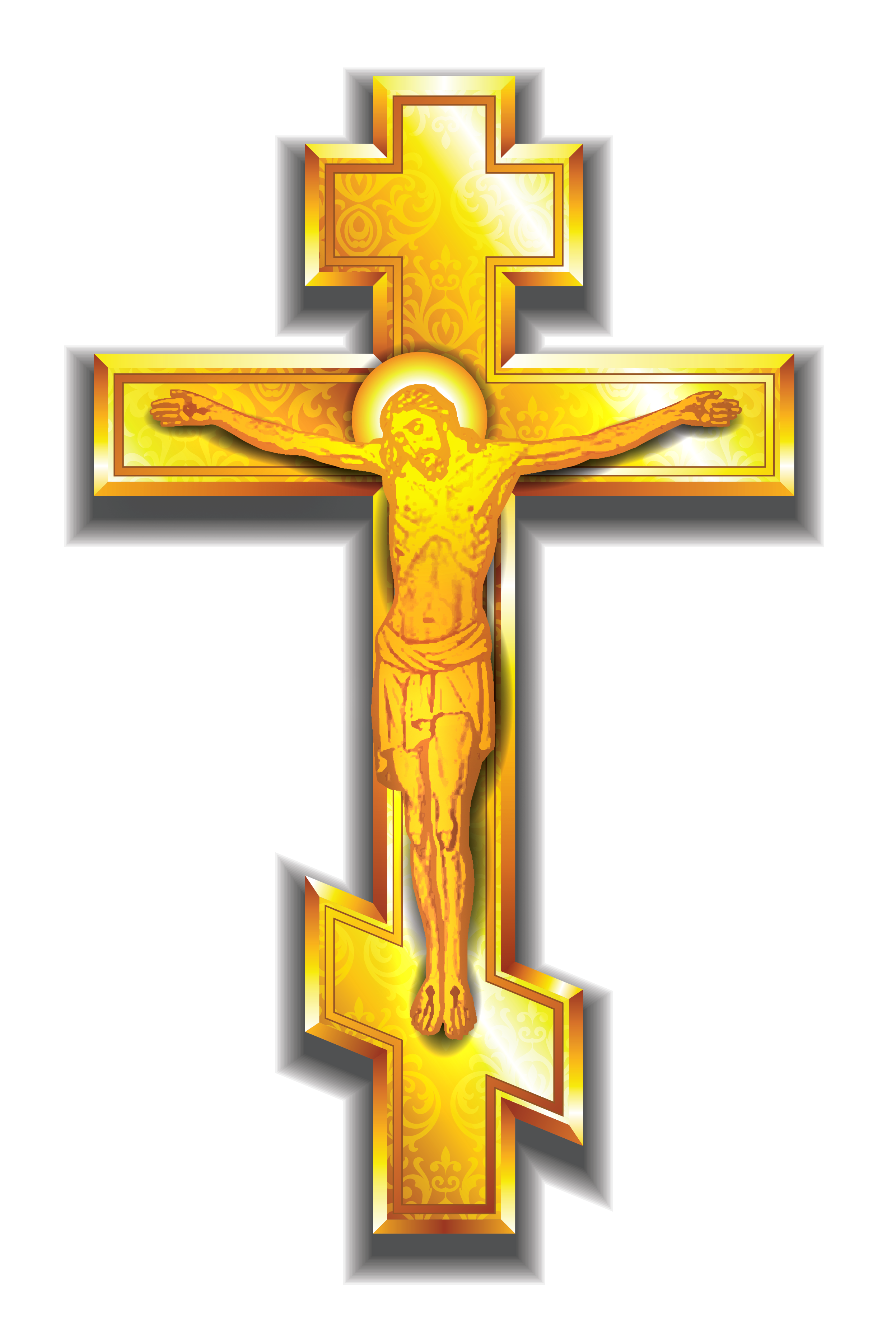 Gold Cross Jewelry - 14 Karat Yellow Gold Crosses with Free Shipping
