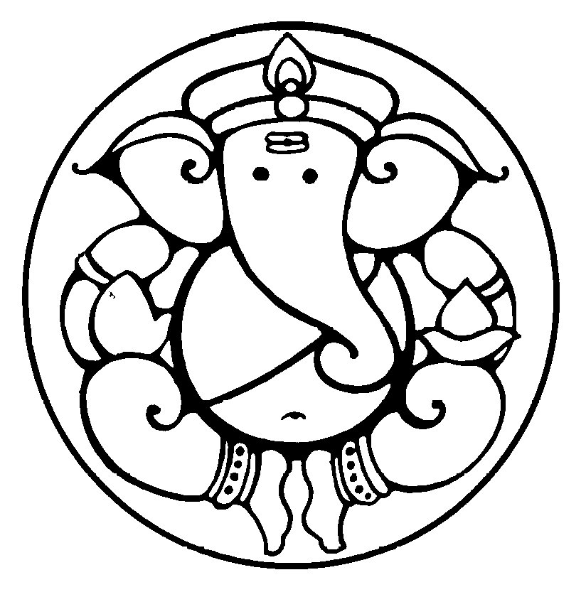 Line Art Ganesh Images : Ganesh black and white clipart best