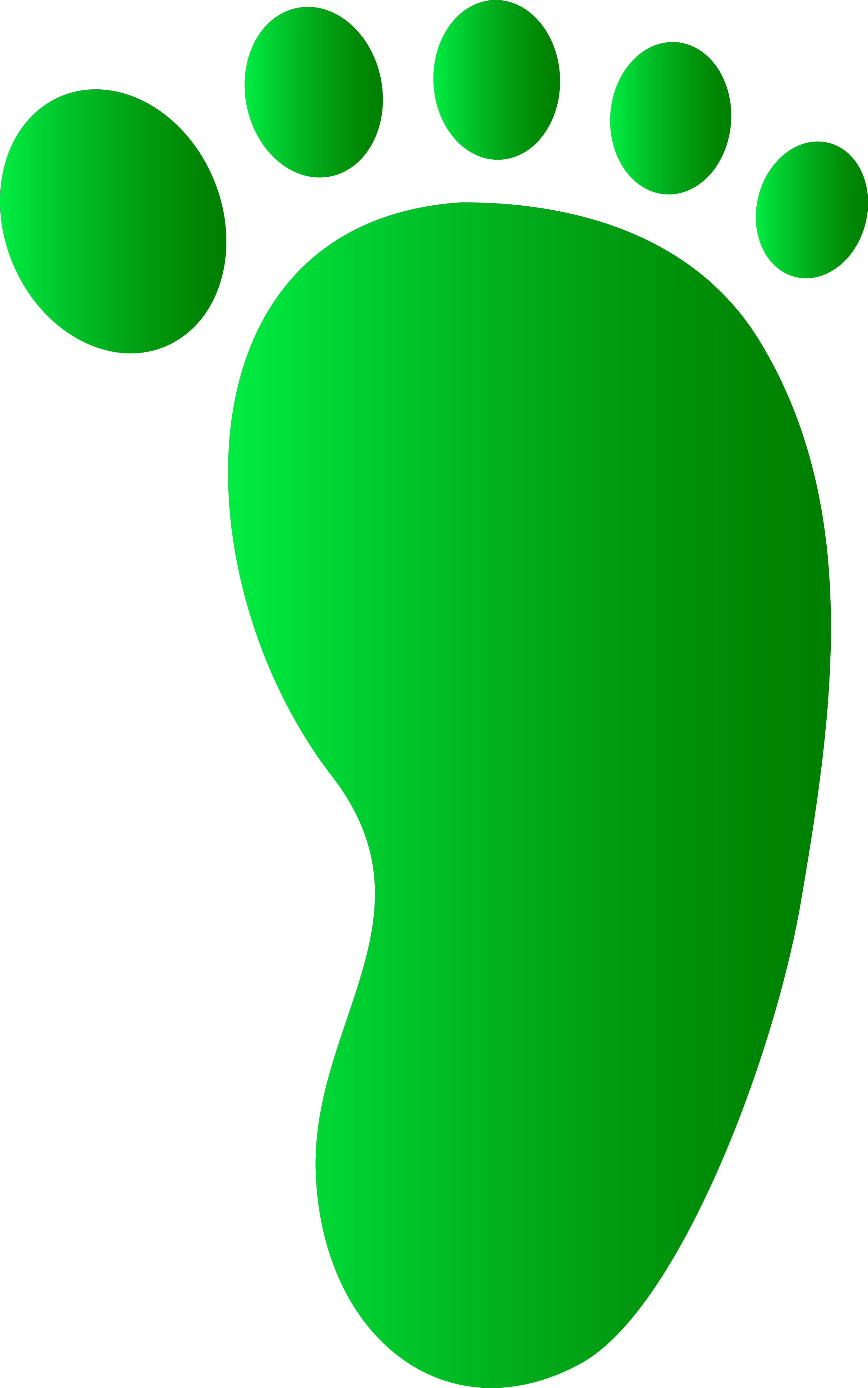 Soldier green footprints clipart