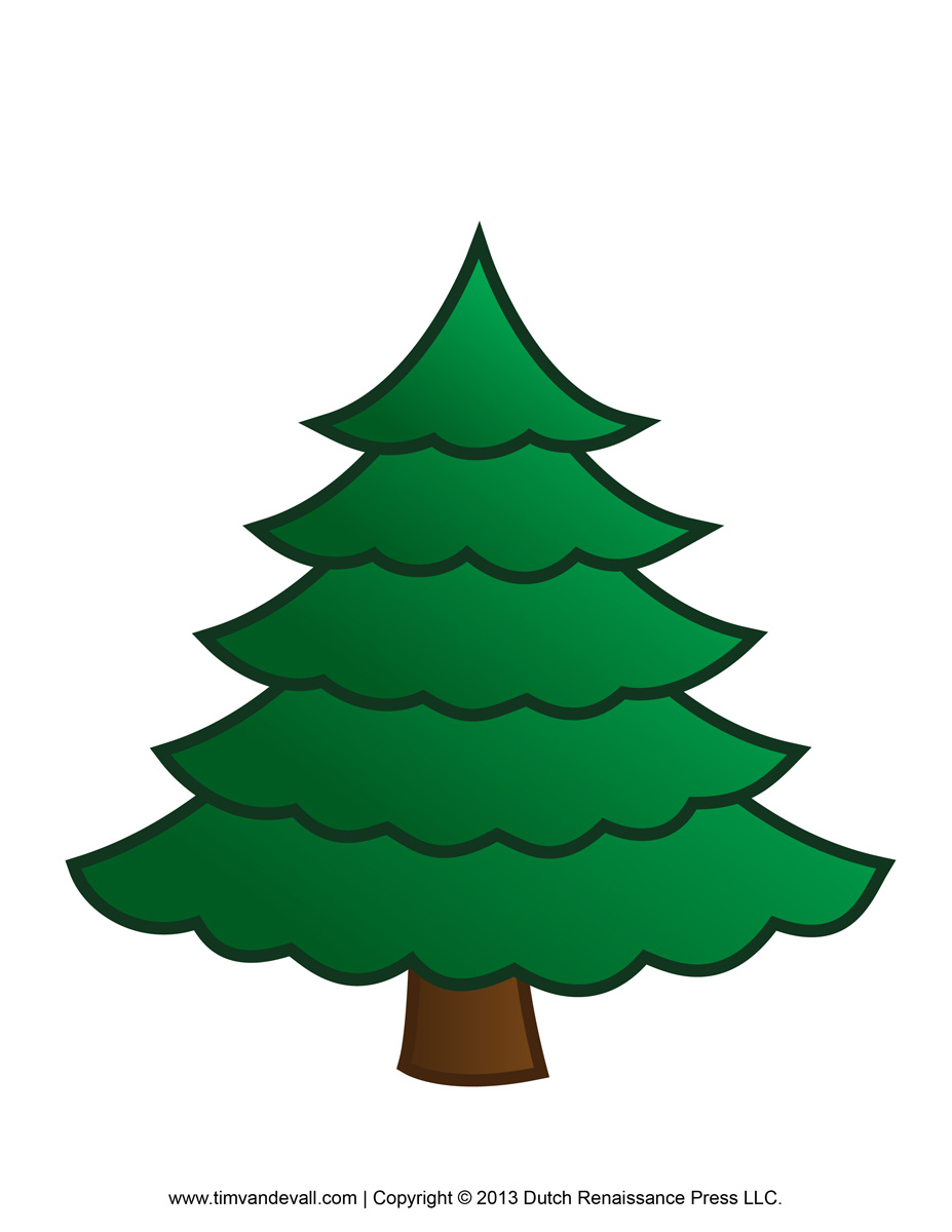 plain christmas trees coloring pages - photo#32