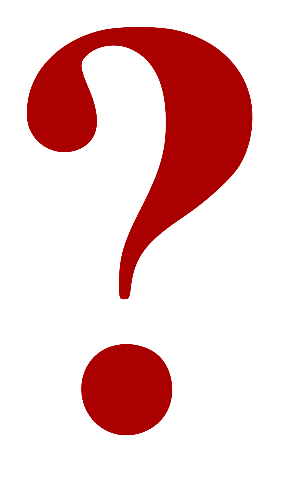Red question mark clipart