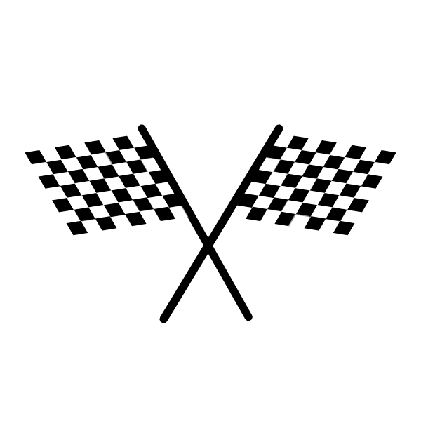 Flowing checkered flag clipart - ClipartFox