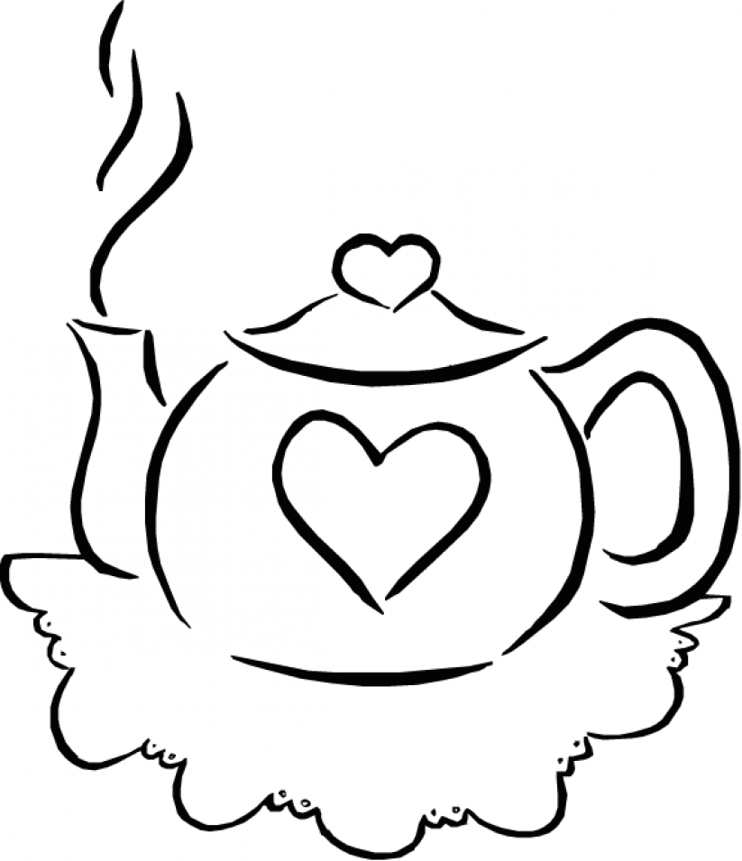 i am a little teapot coloring pages - photo #12