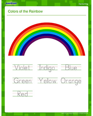 how the color of the rainbow
