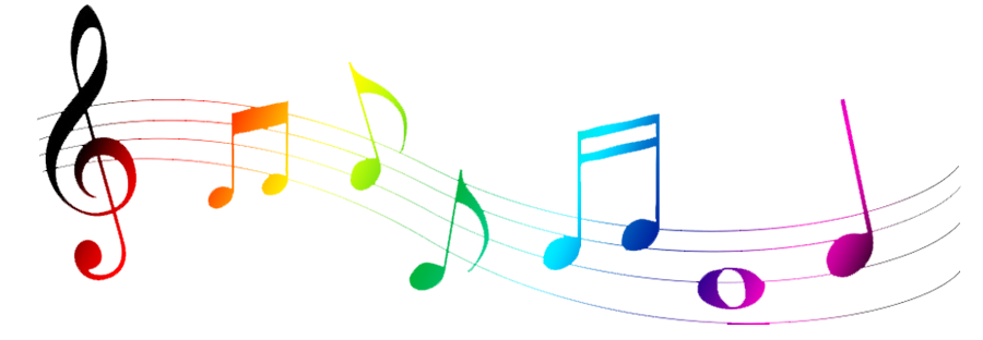 Colorful Musical Notes Clip Art