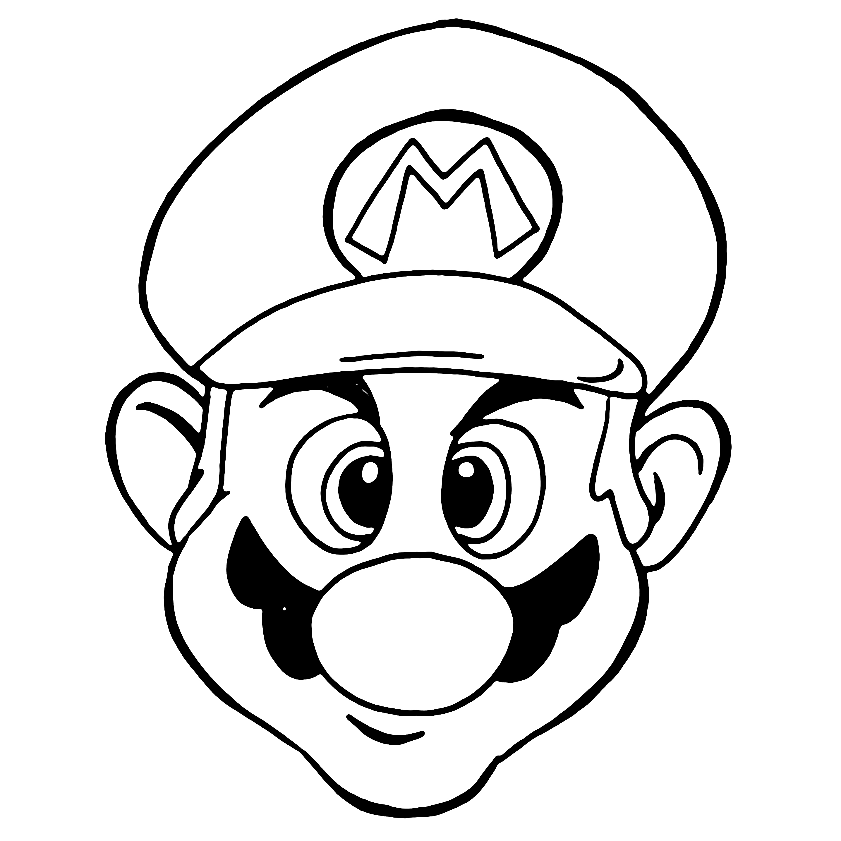 mario line drawing clipart best