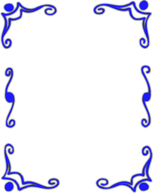 Cool Border Designs Blue - ClipArt Best