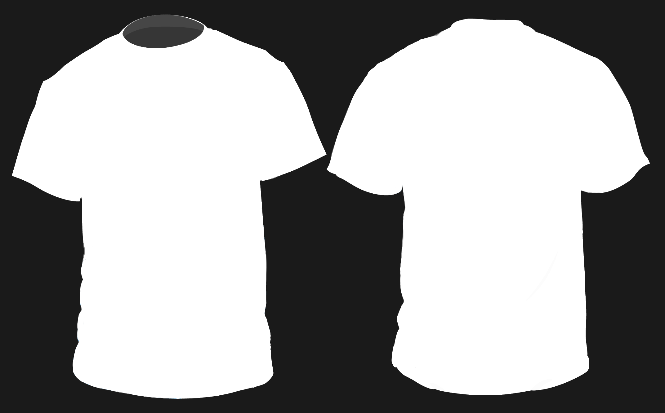 White t shirt outline clipart best for Blank t shirt design template