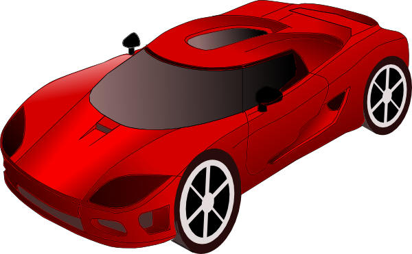 Sports Car clip art - vector clip art online, royalty free ...