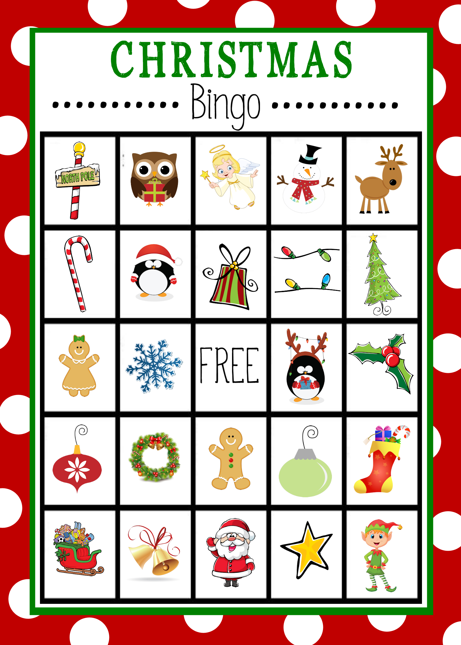 Free Printable Christmas Bingo - ClipArt Best - ClipArt Best