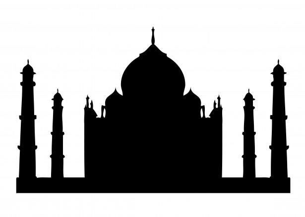 Taj Mahal Silhueta Clipart Foto stock gratuita - Public Domain ...