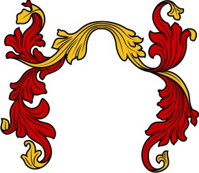 Coat of arms mantle