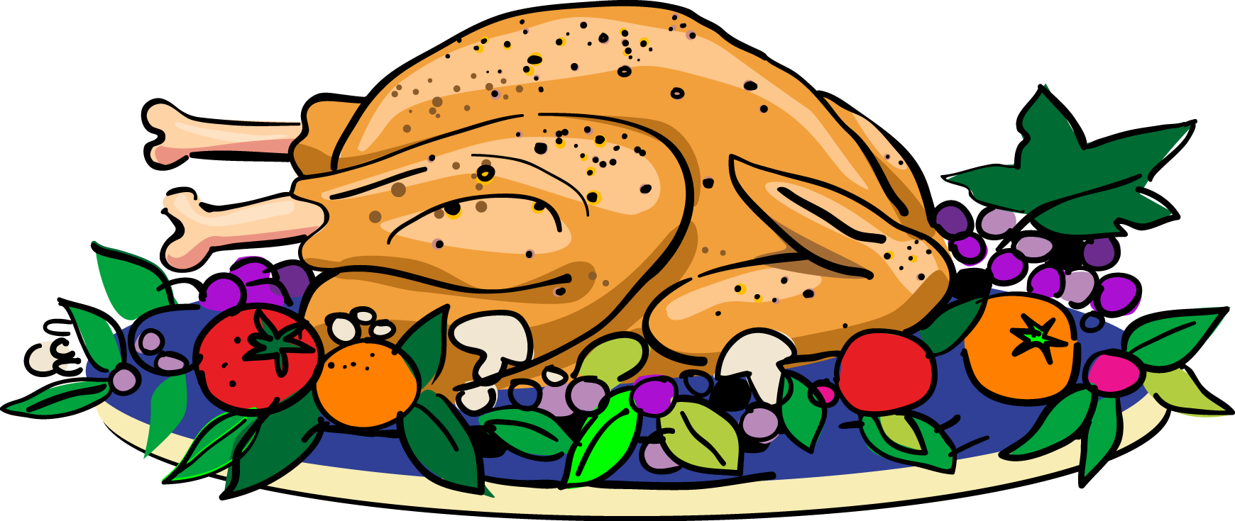 free clipart chicken dinner - photo #25