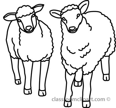 Clip Art Black And White Of Sheep - ClipArt Best