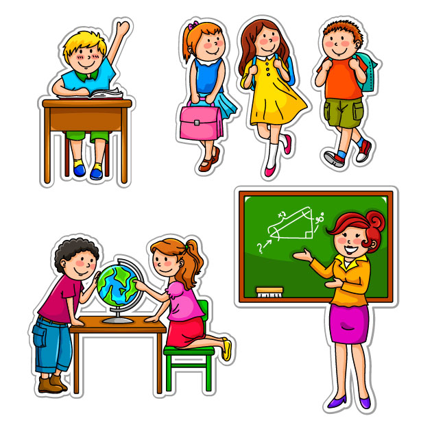 Clip Art School Children