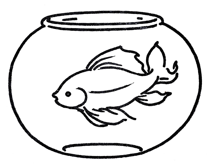 Fish Line Art - ClipArt Best