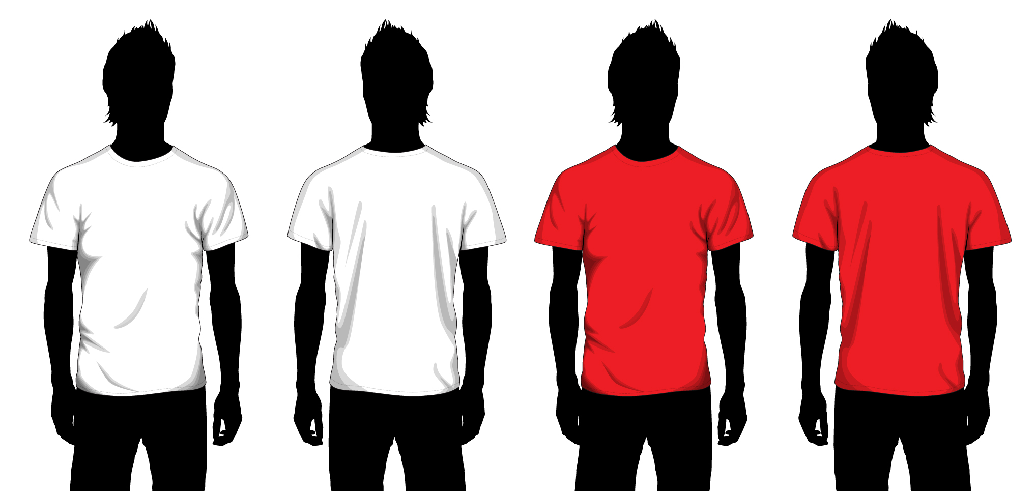 Shirt Vector Template Vector Boy T-shirt Template
