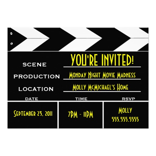 Movie Premiere Invitation as luxury invitation sample