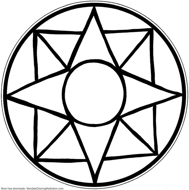Free Mandala Coloring Pages Stress