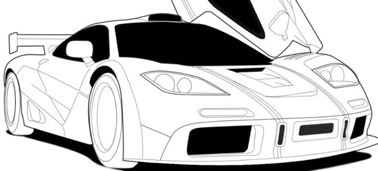 Line Drawing Car : Line drawings of cars clipart best