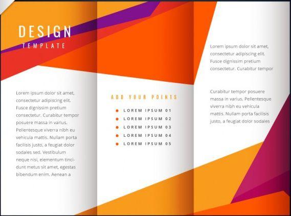 free blank tri fold brochure templates