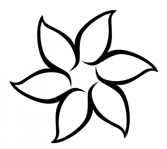 Blank flower template clipart best for Blank flower coloring pages