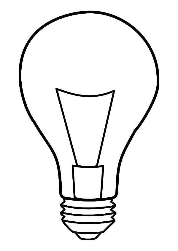Light Bulb Coloring Pages for Kids: Light Bulb Coloring Pages for ...