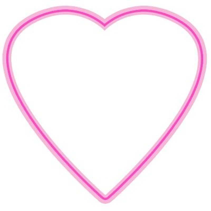 Beautiful Pink Heart Template Frame To Print And Color | Coloring ...
