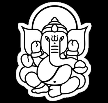 Ganesh Drawing Outline Lord ganesha outline for