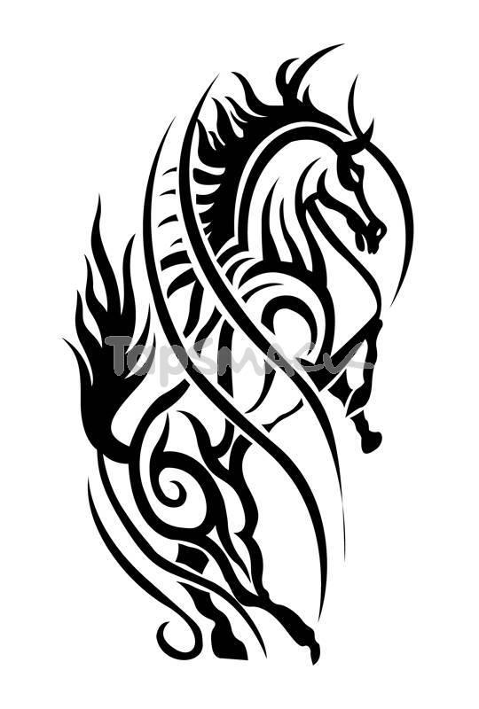 Black Stallion Tattoo Designs