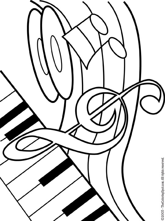 Musical Theme Free Printable Coloring Pages For Kids Themed Coloring Pages