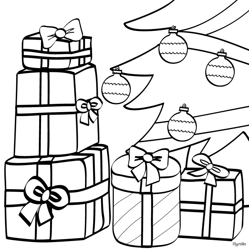 Christmas presents images clipart best for Coloring pages of christmas presents