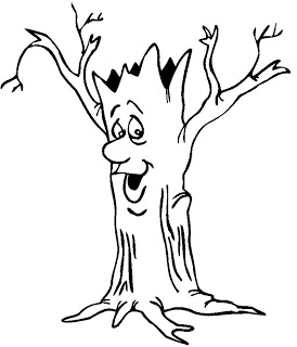 Tree Trunk Coloring Page ClipArt