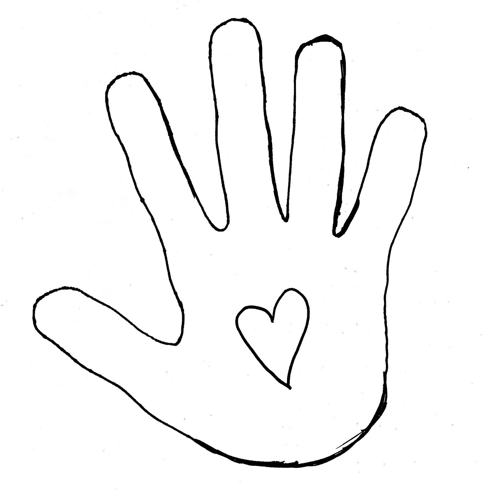 Hand Outline Template Printable | Clipart Panda - Free Clipart Images