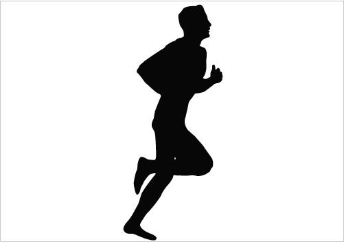 Running Man Silhouette - ClipArt Best