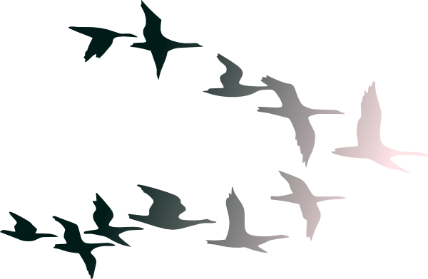 Clipart Of Birds Flying