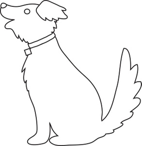 how to draw a dog with no cuves
