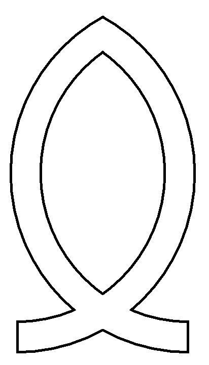 Christian fish symbol clipart
