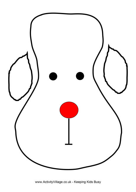 Reindeer head template clipart best for Reindeer tail template