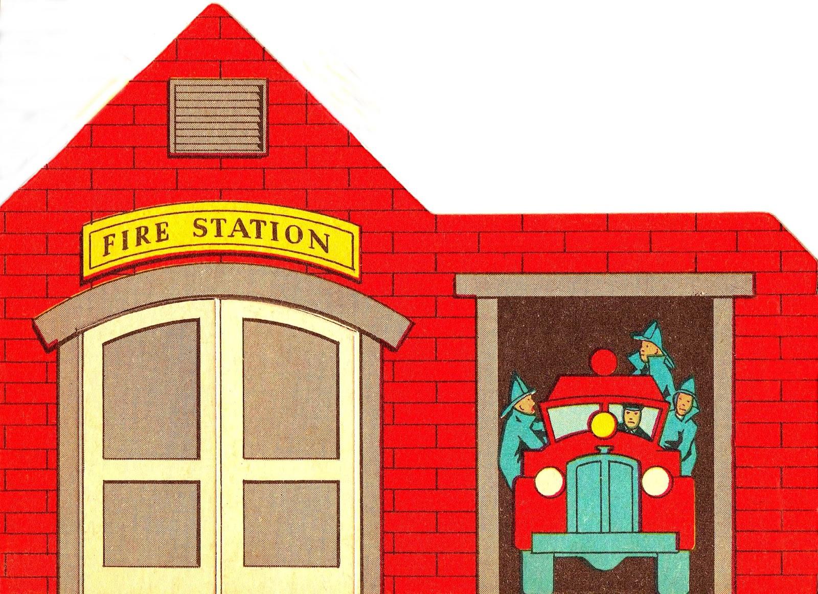 cartoon fire station clipart best firehouse clip art free School Bus Clip Art