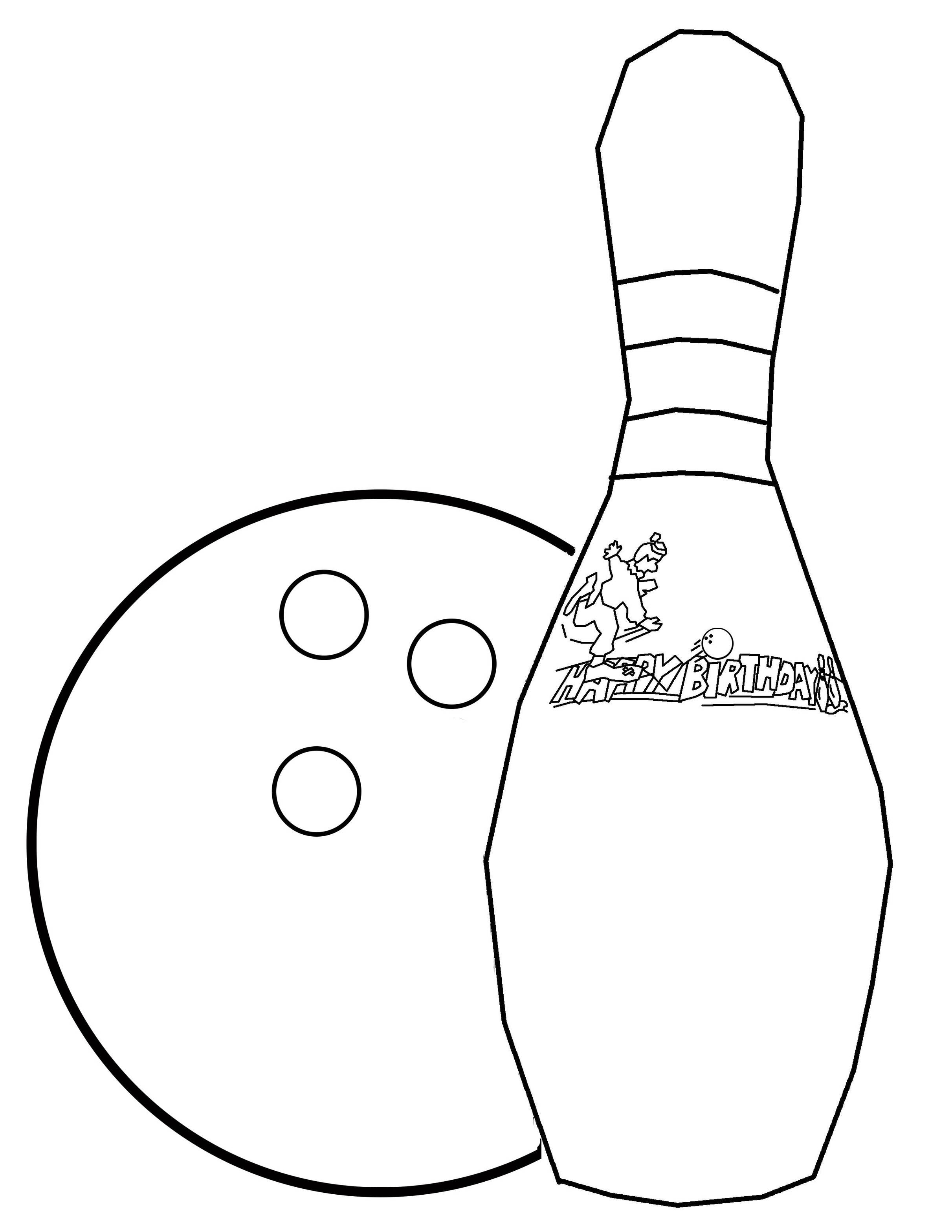Clip Art Bowling Pin Coloring Page bowling pin colouring sheet clipart best outline free to use clip art resource coloring pages