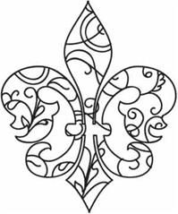 fleur de lys coloring pages - photo#2