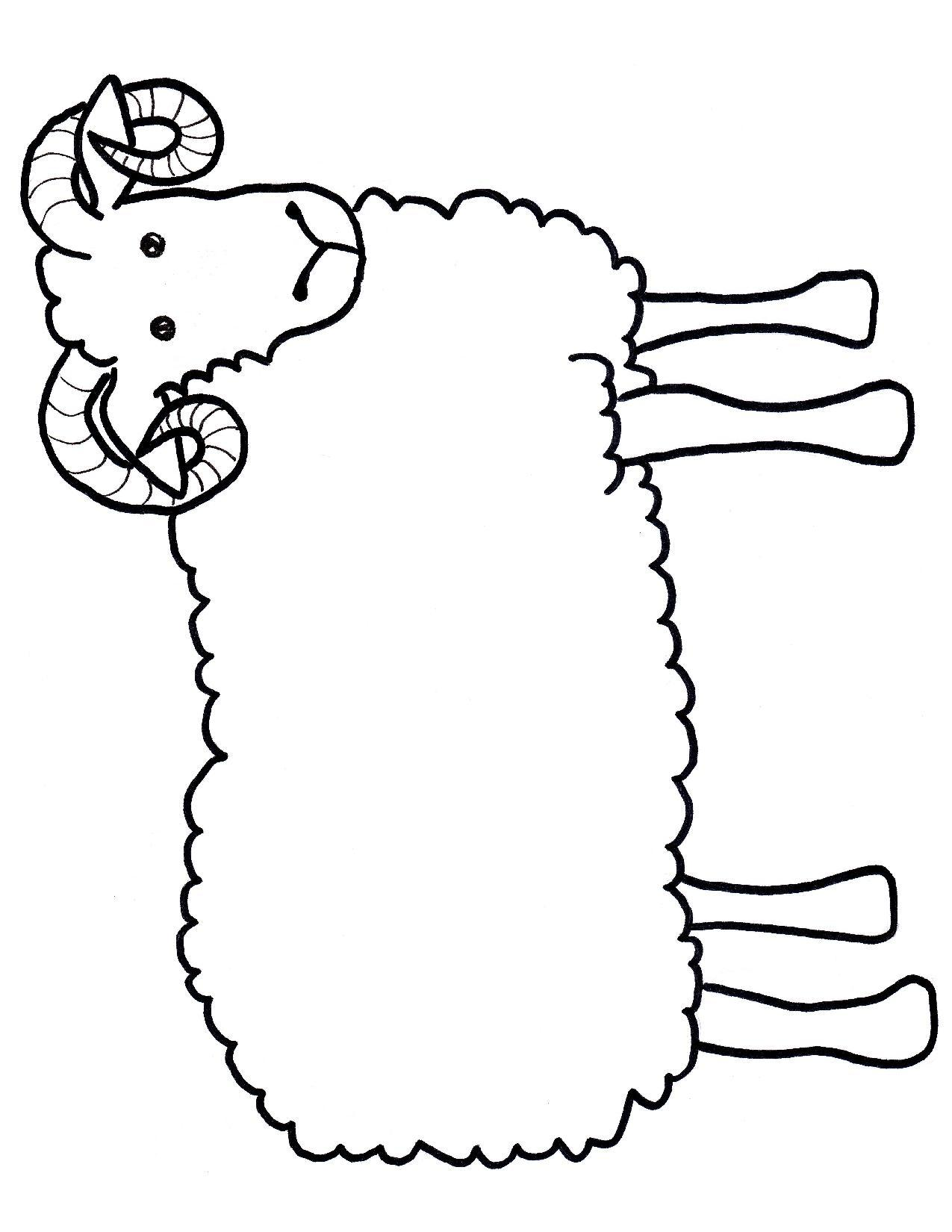 Printable Templates Of Sheep - ClipArt Best