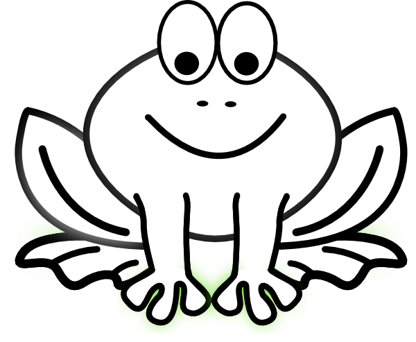 Black and white cartoon frogs - photo#10