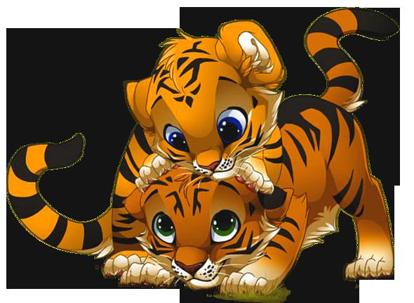 Cartoon baby tiger face