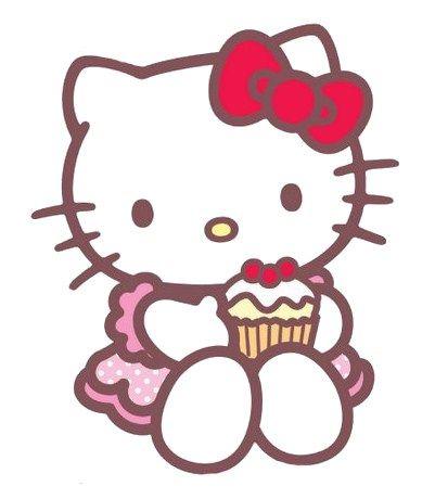Hello Kitty Cupcake Cartoon Clipart Best