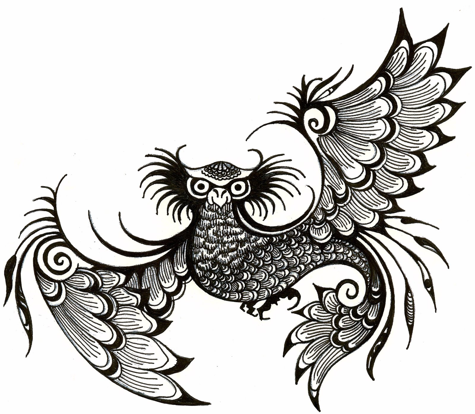Line Drawing Animal Tattoos : Abstract drawings of animals clipart best