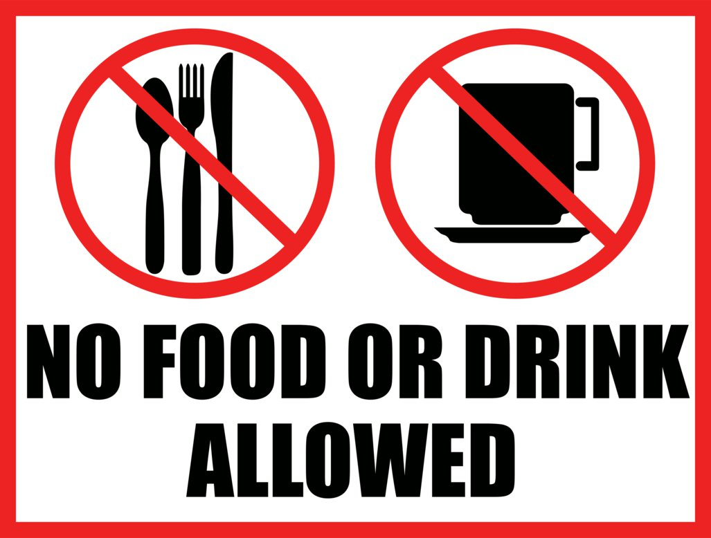 Best Images of Free Printable No Eating Or Drinking Signs - No ...