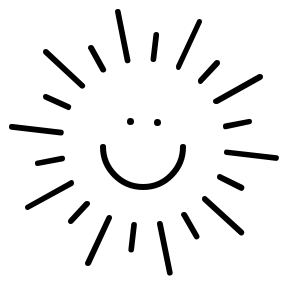 Sun ray clipart black and white